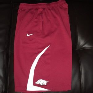 Boys Nike shorts size Large Arkansas Razorback